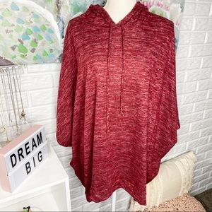 Three Daughters Ranch Berry Poncho Top